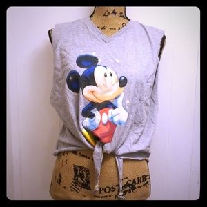 Vintage 90s Refashion Mickey Mouse Disney Tie Top